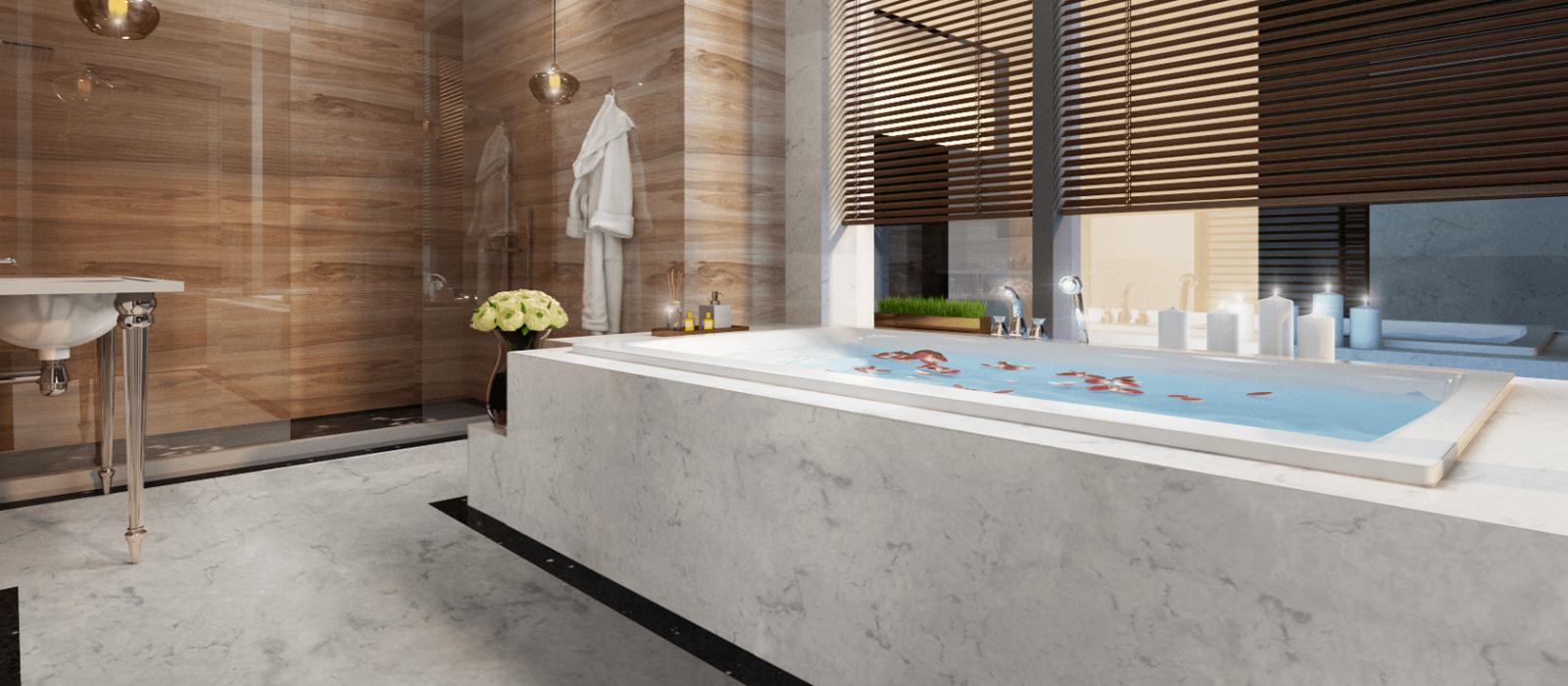 Newest vein quartz stone for bathtub